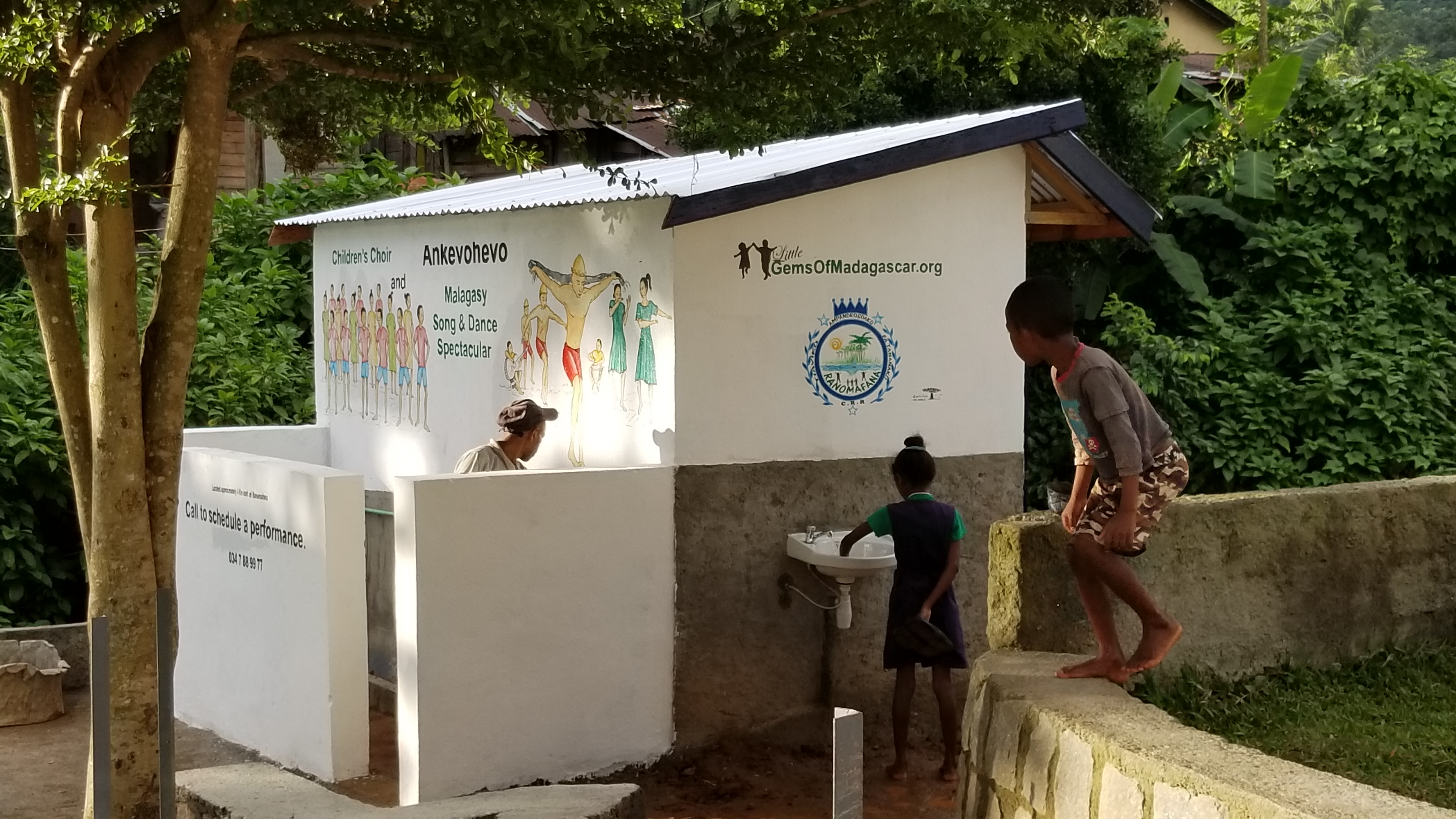 Toilets and Pisoir in Ranomafana